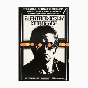 Póster de la película Terminator polaco de Jakub Erol, 1987