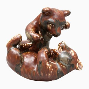 Figura de oso de cerámica vintage de Karl Grössl para Rorstrand, años 50