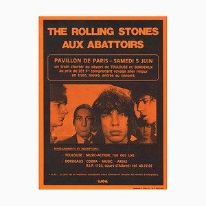 Póster de concierto de The Rolling Stones francés, 1976