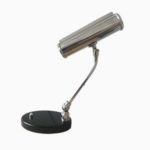 Lampada da tavolo vintage regolabile in metallo cromato di Monix