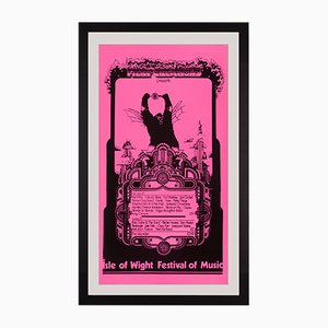 Isle of Wight Festival Poster featuring Bob Dylan and The Who, 1969