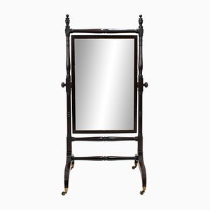 Antiker Standspiegel aus Mahagoni