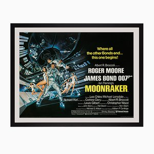 Póster de la película Moonraker British Quad de James Bond británico, 1979