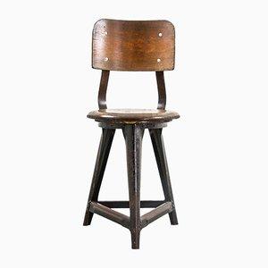 Silla auxiliar industrial vintage, años 30