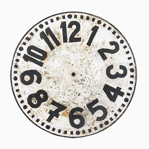 Industrial Metal Decorative Clock Face, 1920s