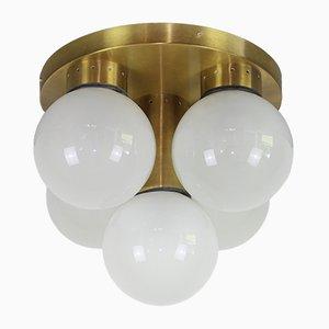 Vintage Deckenlampe aus Opalglas