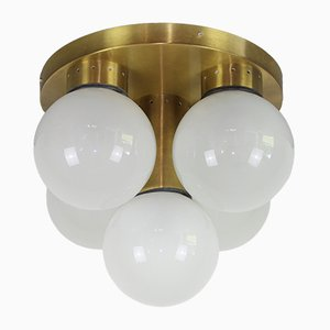 Vintage Opaline Glass Ceiling Lamp