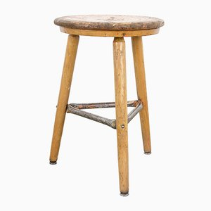 Vintage Wooden Stool from Hohenloher, 1950s