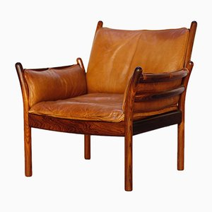 Vintage Danish Rosewood Genius Lounge Chair by Illum Wikkelsø for CFC Silkeborg