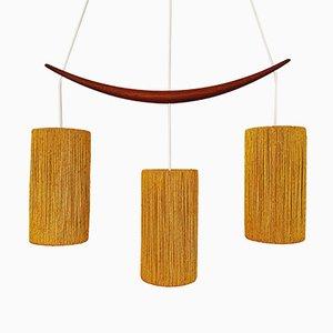 Danish Teak Pendant Lamp, 1960s