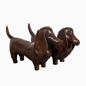 Vintage Dachshund Footstools by Dimitri Omersa, Set of 2