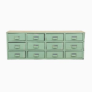 Vintage Mint Green Bank of Drawers