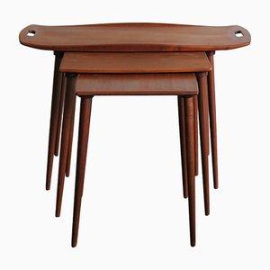 Tavolini ad incastro vintage di Jens Quistgaard per IHQ, Danimarca, anni '50