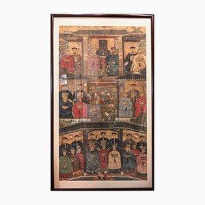 Chinesische Quing-Dynastie-Vorfahren der alten Chinesen Zeichnung auf Reispapier, 19. Jh.