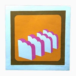 Sérigraphie par Alfonso Frasnedi pour Galleria Segnapassi, 1970s