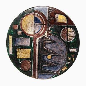 Grand Plat par Maria Giovanna Samoggia pour Istituto d'Arte Faenza, 1950s