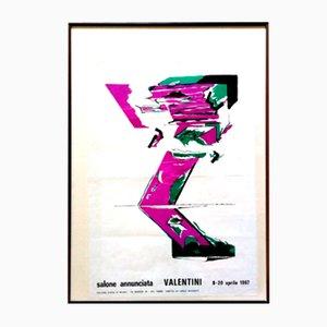 Poster Nanni Valentini, Milano Salone Annunciata, 1967