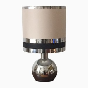 Kugelförmige Tischlampe aus Chrom, 1970er