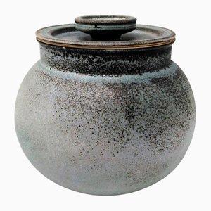 Ceramic Container by Franco Bucci for Laboratorio Pesaro, 1960s