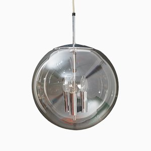 Glass Ceiling Lamp from Limburg, 1950s