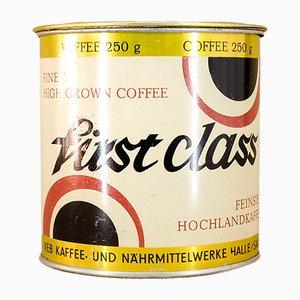Vintage Tin from VEB Kaffee- und Nährmittelwerke Halle Saale, 1980s