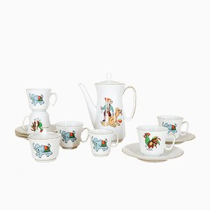 Porcelain Children's Tea Service Set from Bavaria Creidlitz, 1970s