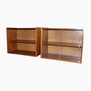 Vintage Bibliotheks-Wandregale, 2er Set