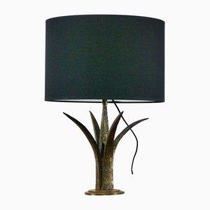 Lampada da tavolo vintage in ferro battuto