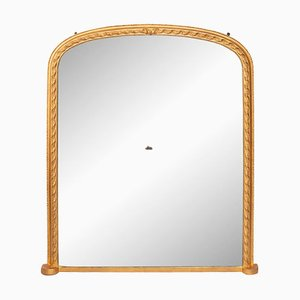 Antique Giltwood Overmantle Mirror
