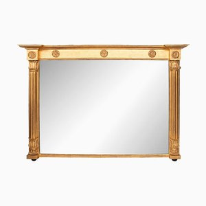 Antiker Willian IV Kaminaufsatzspiegel aus vergoldetem Holz
