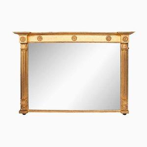 Espejo Willian IV antiguo de madera dorada