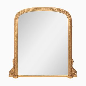 Antique Giltwood Overmantle Mirror, 1880s