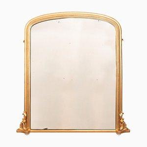 Specchio antico in legno di noce dorato, Regno Unito, fine XIX secolo
