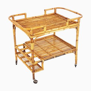 Rattan & Rush Vintage Trolley from Pierantonio Bonacina