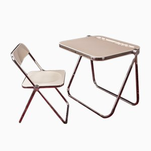Desk and Chair Set by Giancarlo Piretti for Castelli / Anonima Castelli, 1960s