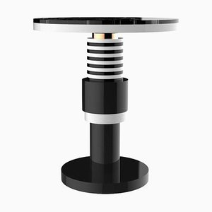 Ceramic and Marble Pedestal Table