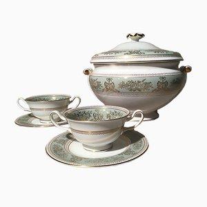 Servicio de sopa chino de porcelana de Josiah Wedgwood para Wedgwood, años 60