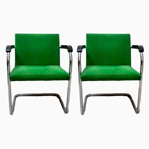 Poltrone di Ludwig Mies van der Rohe per Studio Simon, anni '70, set di 2