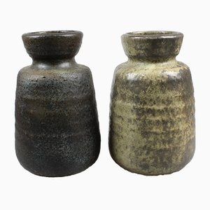 Dutch Stoneware Vases from Mobach Utrecht, 1960s, Set of 2
