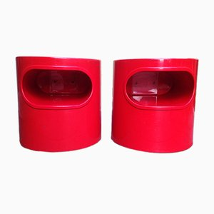 Nightstands by Emma Gismondi Schweinberger for Artemide, 1960s, Set of 2