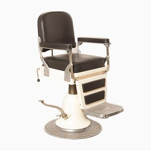 White & Black Skai Barber's Chair from Nike, 1940s