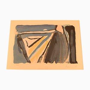 Litografía holandesa a color de Bram van Velde, años 60