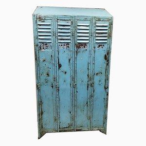Vintage Blue Locker Cabinet, 1930s