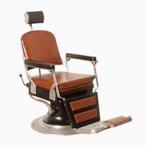 Black & Brown Skai Barber's Chair from Nike, 1940s