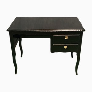 Vintage Black Oak Veneer Desk