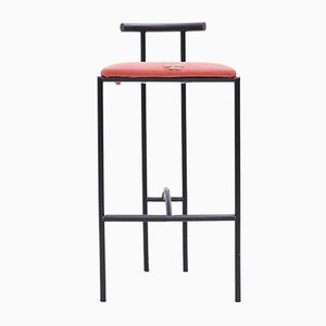 Red Tokyo Barstool by Rodney Kinsman for Bieffeplast, 1980s