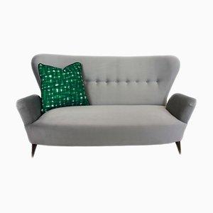 Italienisches Sofa aus Messing & Stoff von Emilia Sala & Giorgio Madini für Galimberti Cantu, 1950er