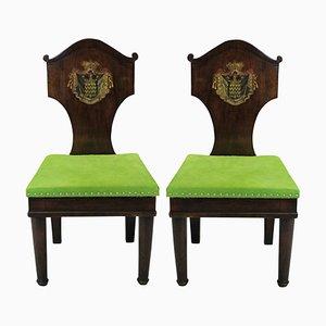 Antike Beistellstühle aus Mahagoni, 2er Set