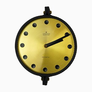 Electromechanical Ato-Mat S Wall Clock from Junghans, 1960s