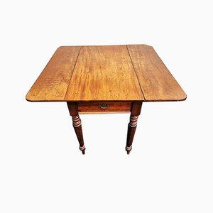 Tavolo Pembroke antico in mogano, XIX secolo